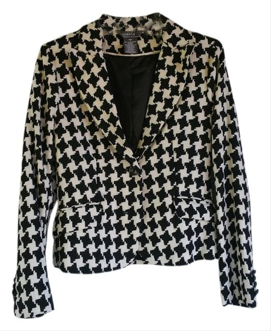 Preload https://img-static.tradesy.com/item/1483575/black-and-white-houndstooth-blazer-size-4-s-0-0-650-650.jpg