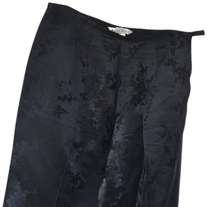 Silk Box Straight Pants Black