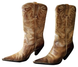 Charlie 1 Horse by Lucchese Patina warm beige multi Boots