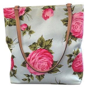 Kate Spade Floral Tote in Teal and Fuschia