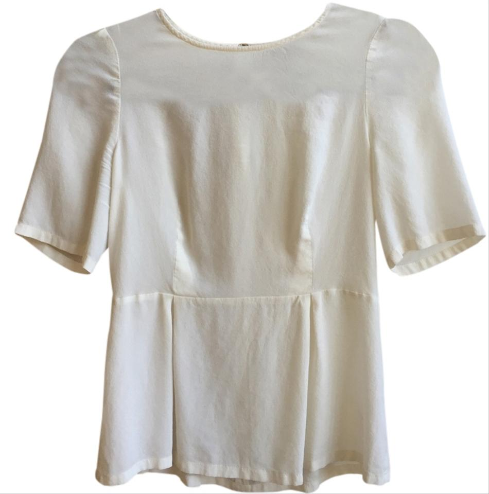 e97615ace495a3 Broadway   Broome Ivory Silk Blouse Size 4 (S) - Tradesy