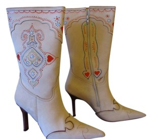 Charlie 1 Horse by Lucchese Cream with hand painted decorating Boots