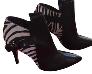 Via Spiga Black and zebra print Boots
