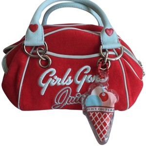 Juicy Couture Accents Cute Hearts Hobo Bag