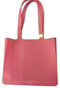 Chanel Vintage Rubber Waterproof Tote in Pink