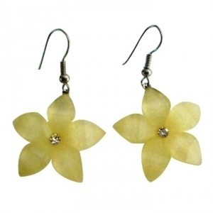 Cream Gift Item Holidays Sale Pale Yellow Flower Earrings