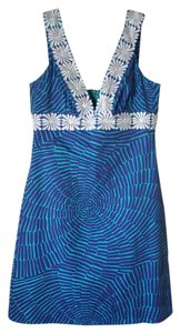 Trina Turk short dress Royal Blue and Turquoise on Tradesy