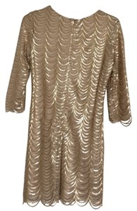 Minuet Petite Scalloped Sequined Body-con Dress