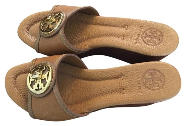 Item - Tan Mules/Slides Size US 7.5 Regular (M, B)