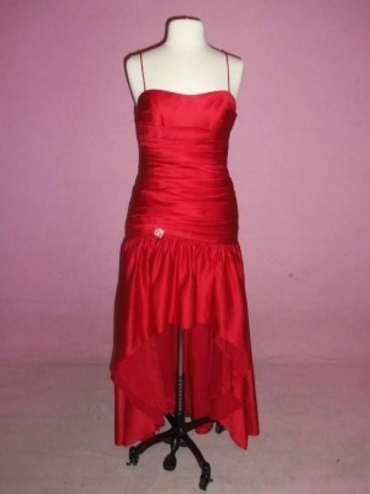 Alfred Angelo Cherry Satin 7224 Formal Bridesmaid/Mob Dress Size 10 ...