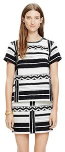Madewell Geo Jacquard Leather Trim Top
