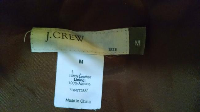 J.Crew Leather Suede Size Medium Brown Leather Jacket