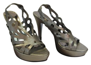 Jones New York Size 6.00 M Silverish/Gray Platforms
