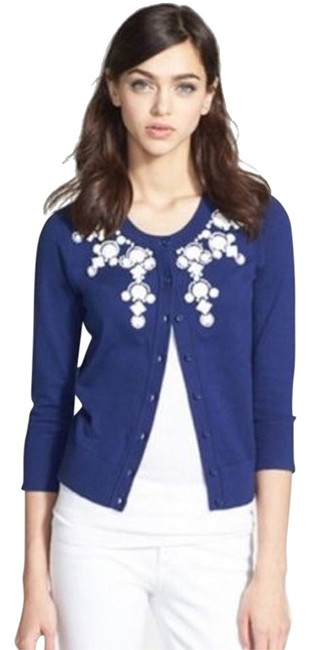 Preload https://item1.tradesy.com/images/kate-spade-french-navy-dree-sweater-embellished-monaco-cardigan-size-2-xs-14838760-0-1.jpg?width=400&height=650