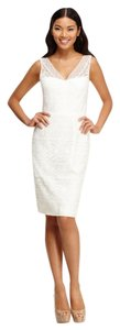 Maggy London Lace Sheath White Dress