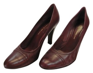 Antonio Melani Leather Size 8.50 M Very Good Condition Reddish/Wine Pumps
