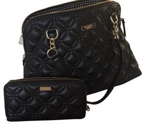 Kate Spade Quilted Chanel Tote in Black