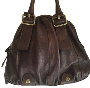 abro Leather Handbag Larger Purse Sale Satchel in Brown