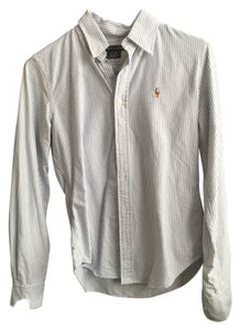 Ralph Lauren Classic Oxford Button Down Shirt Light Blue