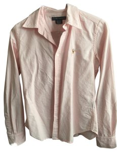 Ralph Lauren Classic Oxford Button Down Shirt Light Pink