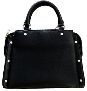 Zara studded bag Satchel in Black