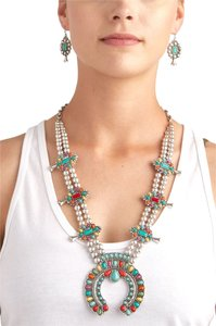 Aris Brand New Navajo Inspired Squash Blossom Necklace