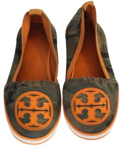Tory Burch Miller Eddie Monogram Reva Brown Flats