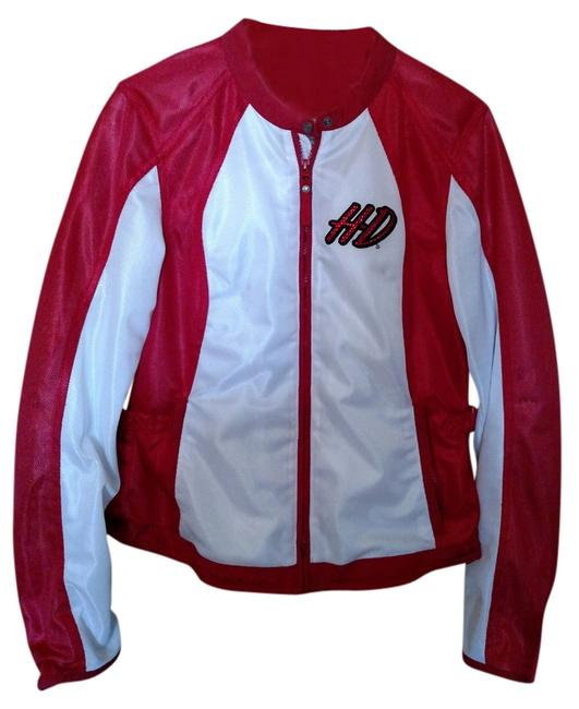 Item - White and Red Jacket Size 12 (L)