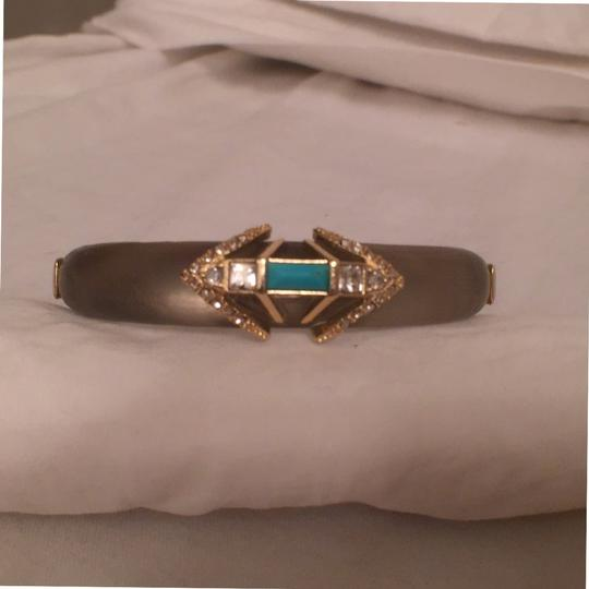 Preload https://item2.tradesy.com/images/alexis-bittar-warm-gray-gold-turquoise-new-art-deco-style-wcrystals-bracelet-14840266-0-0.jpg?width=440&height=440