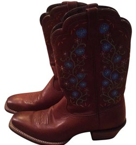 Ariat Brown with embrodiered flowers Boots