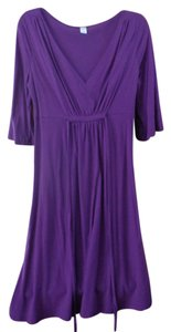 Old Navy short dress Purple Empire Waist Jersey on Tradesy