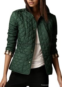 Burberry Quilted Brit Blazer Racing Green Jacket