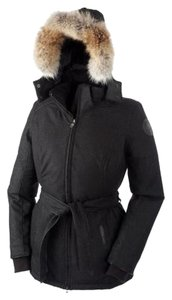 Canada Goose Fur Warm Luxury Black Heather Jacket - item med img