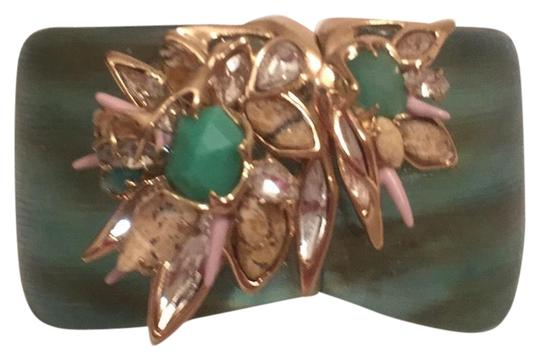 Preload https://item4.tradesy.com/images/alexis-bittar-marbled-aqua-gold-pink-new-wflowers-clear-plated-bracelet-14840773-0-1.jpg?width=440&height=440
