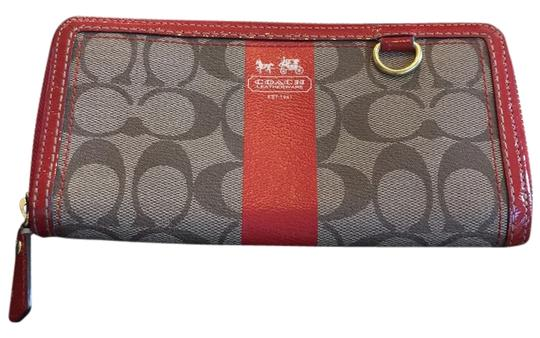 Preload https://item4.tradesy.com/images/coach-red-and-tan-park-signature-accordion-zip-around-wallet-14840803-0-1.jpg?width=440&height=440