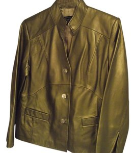 Terry Lewis Classic Luxuries Gold Leather Jacket