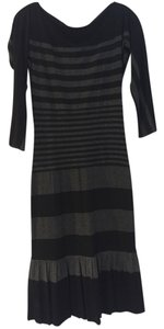 Bailey 44 Cotton Stretch Stripe Fitted Ruffle Dress