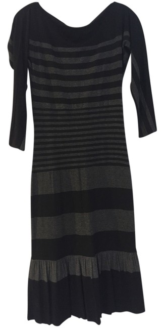 Preload https://item1.tradesy.com/images/bailey-44-black-and-grey-stripe-mid-length-workoffice-dress-size-4-s-14840875-0-1.jpg?width=400&height=650