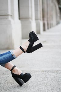 Jeffrey Campbell Platform Mary Jane Black Platforms