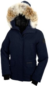 Canada Goose Fur Cold Weather Luxury Navy Heather Jacket
