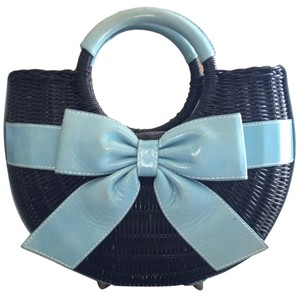 Isabella Fiore Satchel in Black And Blue