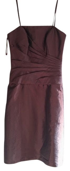 DaVinci Bridal Brown Date Night Wedding Guest Cocktail Elegant Simple Classic Dress