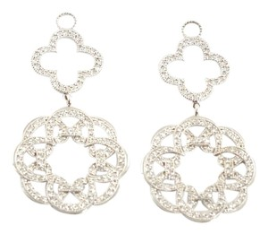 Jude Frances JUDE FRANCES 18K White Gold Diamond Cipriani Charm Earrings