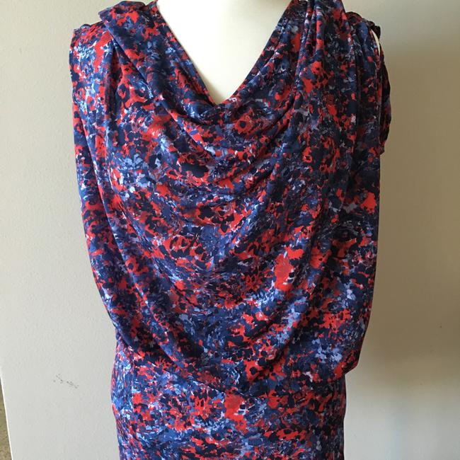 unaluna short dress Print -- blue/red on Tradesy