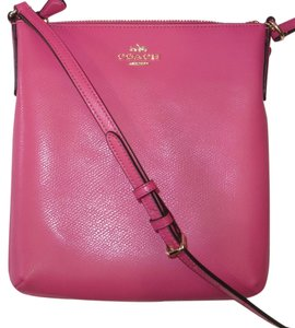 Coach F36063 Crossgrain Leather Cranberry Cross Body Bag