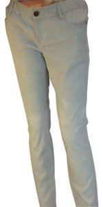 Elie Tahari Leather Stretch Straight Pants Grey