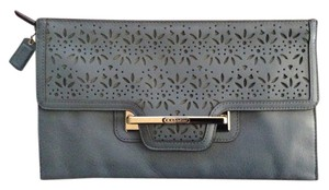 Coach New With Tags Dust Denim Blue Clutch - item med img