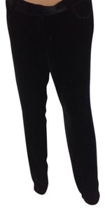 Magaschoni Velvet Silk Straight Pants Black