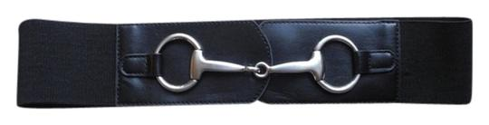 Other Black Waist Belt with Silver Hardware Accent
