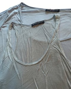Brandy Melville Tank Cotton Pocket T Shirt Light Blue